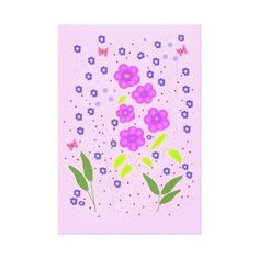 Modern Art Flowers, Naive style Stretched Canvas Prints  http://www.zazzle.com/artistjandavies*