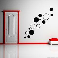 Stickers muraux design - Sticker mural cercles | Ambiance-live.com