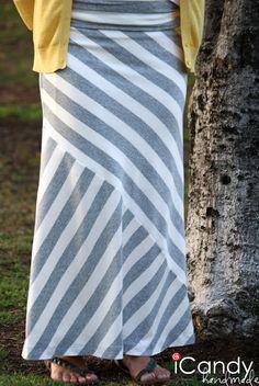 maxi skirt tutorial - like the waistband