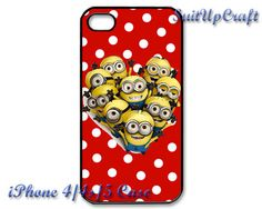 Despicable Me Minions Polka Dots iPhone 4/4s Case by SuitUpCraft, $14.99