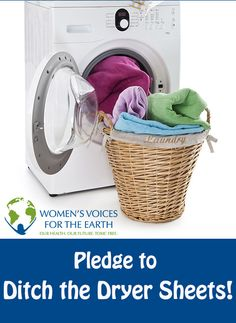 Did you know dryer sheets can contain some harmful chemicals? Take the pledge to Ditch Dryer Sheets and get a discount on nontoxic wool dryer balls! http://www.womensvoices.org/2013/04/04/ditch-the-dryer-sheets/