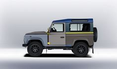 Sir Paul Smith Gives the Land Rover Defender a Custom Look : Architectural Digest Landrover Defender, Land Rovers, Paul Smith, Sir Paul, Jaguar Land Rover, My Ride, Range Rover, Landing, Dream Cars