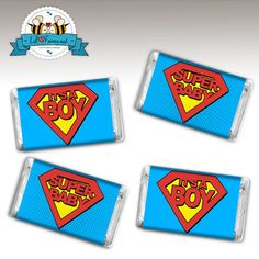 Superhero Baby Shower Mini Hershey's Candy Wrappers