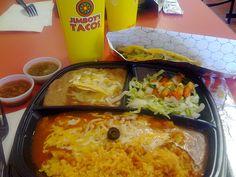 Jimboy's Tacos combo meal by California Vegetarian, via Flickr