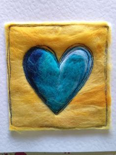 A personal favourite from my Etsy shop https://www.etsy.com/uk/listing/469025519/heart-card-boho-colourful-needle-felted