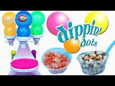 Dippin' Dots Frozen Dot Maker Machine Ice Cream Frozen Sweet Treats with Spiderman & DisneyCarToys - YouTube