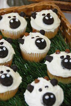 Food art - Cow face cupcakes