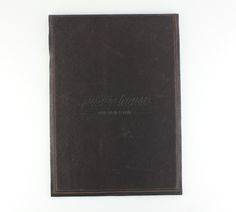 Leather   Raw Edge - Single Panel - A4 - Brown K Leather - Blind Debossing