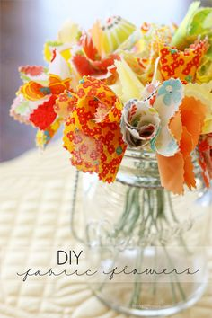 Lovely DIY fabulous flowers!  Make a bouquet to display in your home -- and they never die!  Tutorial at livelaughrowe.com