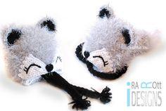 Handmade Crochet Fox Animal Hat for boys and girls of all ages www.irarott.com