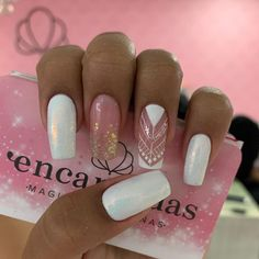 Short Square Nails, Best Acrylic Nails, Shellac Nails, Super Nails, Perfect Nails, Simple Nails, White Nails, Nail Arts, Beauty Nails