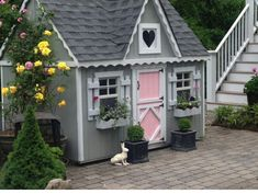 A fun and colorful #playhouse #design!