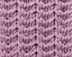 Beautiful and easy rib stitch created with simple 2-stitch back and front cables. Makes a rather non-stretchy fabric.