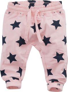 Pantalon de jogging rose avec imprimé stars #Z8