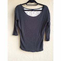 American eagle long sleeve Lace back and light weight can be worn all year round American Eagle Outfitters Tops Tees - Long Sleeve