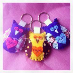 Twit Twoo 'MUM' owl keyring - The Supermums Craft Fair