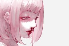 Dark bloody anime girl Guro