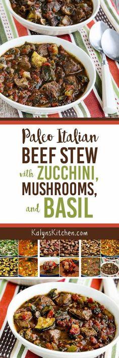 Paleo Italian Beef Stew with Zucchini, Mushrooms & Basil