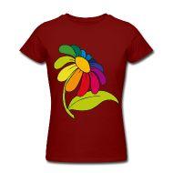 T-Shirts ~ Frauen T-Shirt von American Apparel ~ Regenbogenblume