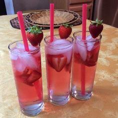 Vanity Cocktail - 1oz. (30ml) Strawberry Vodka 1 1/2 oz. (45ml) Peach Schnapps Splash of Cranberry Juice Dash of Sweet & Sour Top with Sprite/7up Garnish with Strawberries