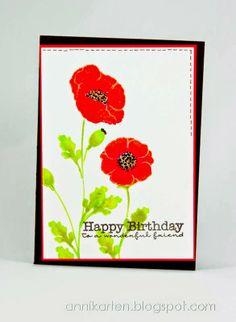 Annikarten: CASE Study # 193 My favorite Things: Pretty Poppies