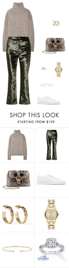 """Street Style"" by julieselmer ❤ liked on Polyvore featuring Vince, Opening Ceremony, J.W. Anderson, Common Projects, Eddie Borgo, Burberry and Jemma Wynne"