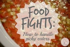 Food Fights -- What to do about picky eaters?  This has some great perspectives you might not have considered!