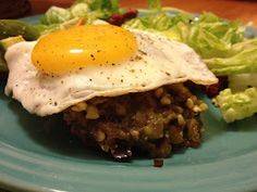 What I Gather: Hatch Green Chile Burgers with Fried Egg