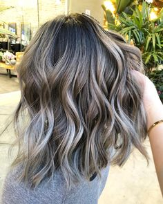 Long Wavy Ash-Brown Balayage - 20 Light Brown Hair Color Ideas for Your New Look - The Trending Hairstyle Ombre Hair Long Bob, Ombre Hair Color, Brown Hair Colors, Hair Colour, Ombre For Dark Hair, Spring Hairstyles, Hairstyles 2018, Gray Hairstyles, Blonde Hairstyles