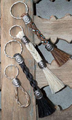 xo horsehair key chain
