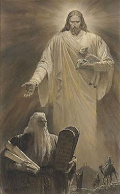 Jesus and Moses❤️Christian Art ~ Light and the Law by Arnold Friberg Religious Paintings, Religious Art, La Sainte Bible, Jesus E Maria, Pictures Of Jesus Christ, Bible Pictures, Jesus Christus, Jesus Is Lord, Bible Art