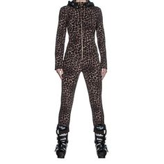 Bogner Mila Womens One Piece Ski Suit, Leopard