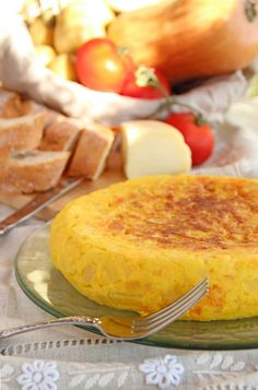 Tortilla de patata y calabaza