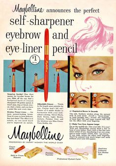 A vintage Maybelline ad from 1958.