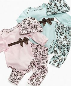 These are so simple and precious.  First Impressions Baby Set 3-Piece Damask Set - Macy's