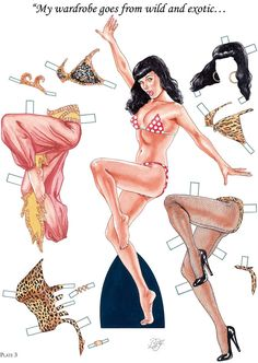 Dragonfly Treasure: Bettie Page Paper Dolls