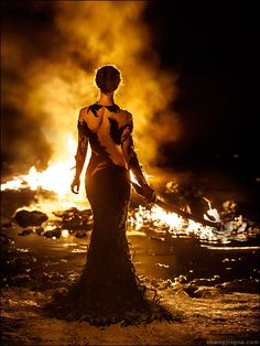 Motherland Chronicles #41 - By Firelight by Zhang Jingna