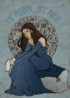 """I decided to draw some dead from asoiaf and I chose Lyanna first because she is one of the characters I'm really sad for not having """"known"""" . Asoiaf - Lyanna Stark: Queen of Love and Beauty Lyanna Stark Jon Snow, Arya Stark, Game Of Thrones Artwork, Game Of Thrones 3, Inspiration Art, Character Inspiration, Character Design, Fanart, Rhaegar Y Lyanna"""