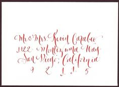 Wedding+calligraphy++hand+addressing+by+lilflower+on+Etsy,+$1.75