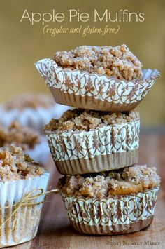 For the perfect Fall breakfast, try these Apple Pie Crumble Top Muffins (#vegan and #glutenfree recipes provided).