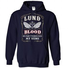 Awesome Tee LUND blood runs though my veins T shirts