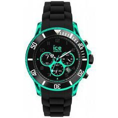 montre Homme Ice Watch, Chrono Electrik Black and Turquoise Big CH.KTE.BB.S.12