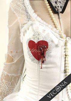 "The Sacred Heart Corset, from Vecona. So, so gorgeous! vecona: "" Sacred Heart Corset """