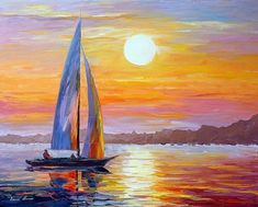 Morning Light — Palette Knife Ocean Sailboat Living Room Decor Oil Painting On Canvas By Leonid Afremov. Size X Inches x - Morgenlicht-Palette Messer Meer Segelboot Wohnzimmer Dekor - Oil Painting On Canvas, Canvas Art, Knife Painting, Painting Art, Painting Portraits, Music Painting, Painting Pictures, Painting Flowers, Painting Videos