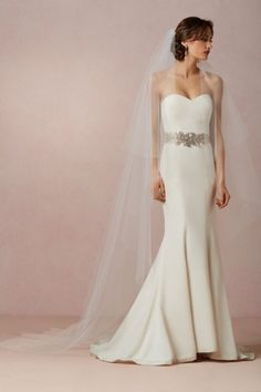 BHLDN Floating Cathedral Veil in  Shoes & Accessories Veils Cathedral & Chapel at BHLDN