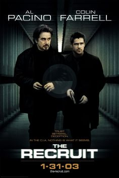 The beautiful US Action, Crime, Drama Film (The Recruit)Stars:Al Pacino, Colin Farrell, Bridget Moynahan