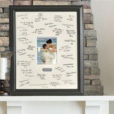 Wedding Signature Frame | Engraved Wedding Signature Frame