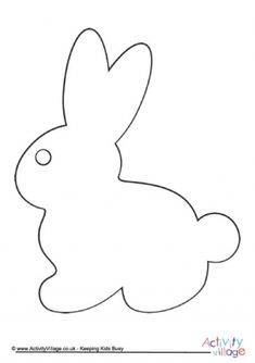 Print this Easter egg template for use in kids crafts at Easter time or during spring. Easter Bunny Template, Easter Templates, Bunny Templates, Animal Templates, Drawing Templates, Cat Template, Printable Templates, Free Applique Patterns, Applique Templates