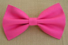 Hot Pink Hair Bow  Hair Bows for Teens women by ClipaBowBoutique, $3.79
