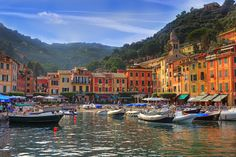 Portofino - a port city in Liguria on the Mediterranean Sea with many yachts. Description from fineartamerica.com. I searched for this on bing.com/images